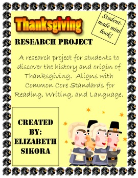 Thanksgiving Mini Book Research Project