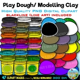 Play Dough Clip Art for Personal and Commercial Use