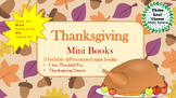 Thanksgiving Mini Books - ESL/ENL, Special Needs, Young Learners