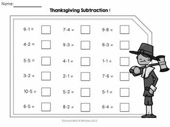 Thanksgiving Mini Math & Literacy Packet