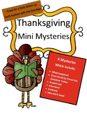 Thanksgiving Mini Mysteries: Daily Reading Warm Up