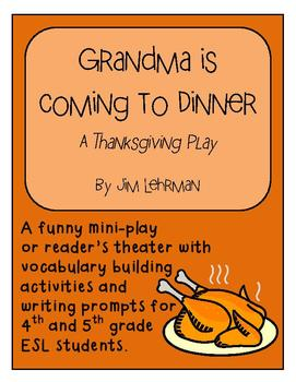 Thanksgiving Mini Play / Reader's Theater for 3-5 ESL students