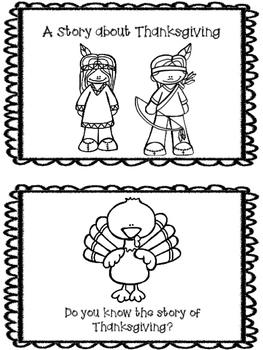 Thanksgiving Mini Reader