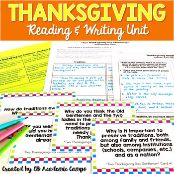 Thanksgiving Mini-Reading Unit for Middle School & High School