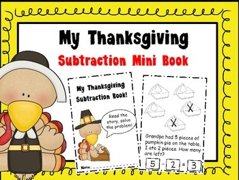 Thanksgiving Mini Subtraction Book