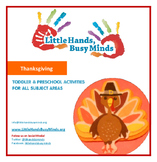 Thanksgiving - Mini Thematic Unit for Toddlers/Pre-K