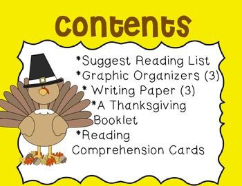 Thanksgiving Mini Unit~ Includes Graphic Organizers & Much More!