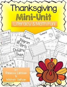 Thanksgiving Mini Unit {Math & Literacy Fun}