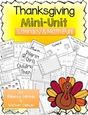 Thanksgiving Mini Unit {Math & Literacy Fun}