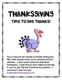 Thanksgiving Mini-Unit for ELA