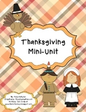 Thanksgiving Mini-Unit for Kinders