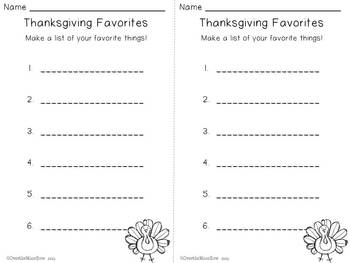 Thanksgiving Mini-Word Wall Activity Pack