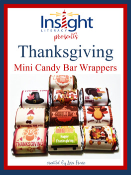 Thanksgiving Miniature Chocolate Candy Bar Wrappers
