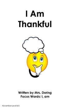 Thanksgiving Minibooks ENGLISH {Leveled Readers}