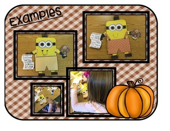 Thanksgiving Minion PRINT and MAKE Art and Writing Activity