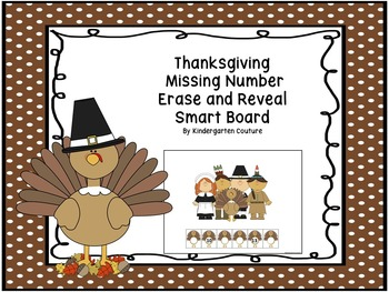 Thanksgiving Missing Number Erase and Reveal For Smartboard