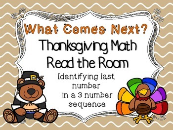 Thanksgiving Missing Number Read/Write the Room Numbers 0-13