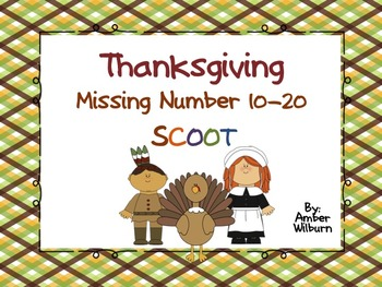 Thanksgiving Missing Number 10-20 QR SCOOT