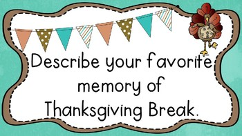 Thanksgiving Break Mix Pair Share PowerPoint Presentation