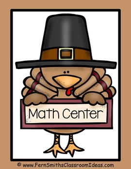 Thanksgiving Math Center Mixed Addition and Subtraction