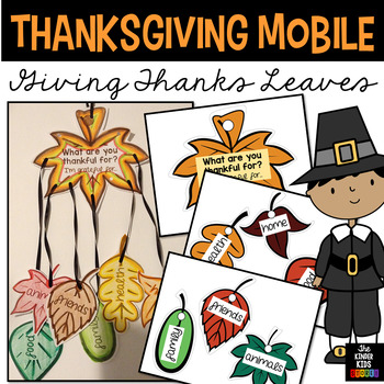 Thanksgiving Mobile Craft - Giving Thanks Leaves