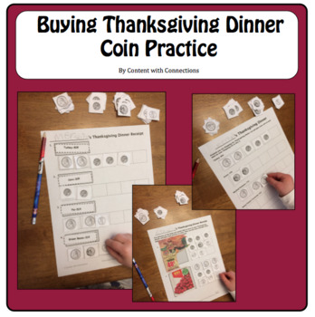 Thanksgiving Activities with Money & Math: Buying Thanksgiving Dinner with Coins