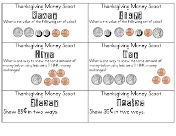 Thanksgiving Money Scoot