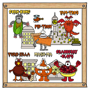 Thanksgiving Monster Food Clip Art