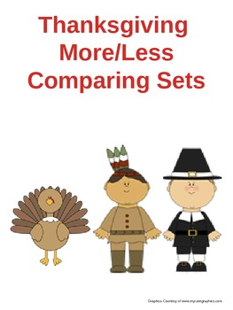 Thanksgiving More/Less Comparing Sets