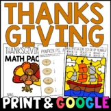 My Thanksgiving Math Packet