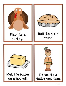 Thanksgiving Movement Cards