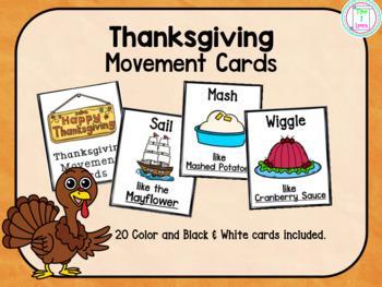 Thanksgiving Movement Cards/Brain Break