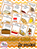Thanksgiving Movement Cards for Preschool