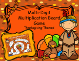 Thanksgiving Multi-Digit Multiplication Board Game