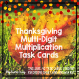 Thanksgiving Multi-Digit Multiplication Task Cards