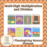 Thanksgiving Multi-Digit Multiplication and Division Myste