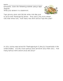 Thanksgiving Multi-Step Addition and Subtraction Word Problems