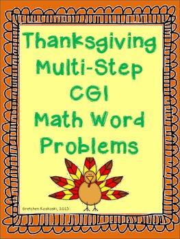 Thanksgiving Multi-Step CGI Math Word Problems