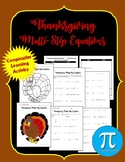 Thanksgiving Multi-Step Equations Cooperative Activity