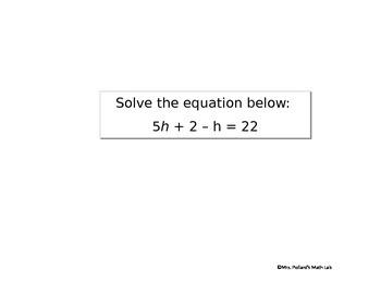 Thanksgiving Multi-Step Equations Lab Activity
