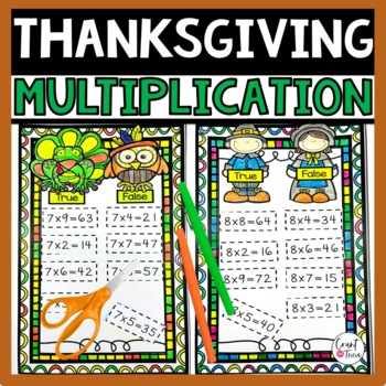 Thanksgiving Multiplication True or False Activities