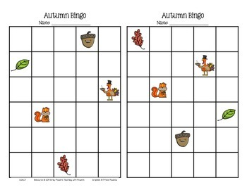 Thanksgiving Multiplication Bingo