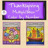 Thanksgiving Multiplication Color by Code