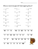 Thanksgiving Multiplication/ Division Riddle