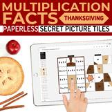 Thanksgiving Multiplication Facts Paperless Google Slides PPT Secret Pictures