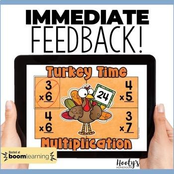 Thanksgiving Multiplication Fluency Digital Task Cards