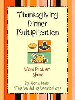 Thanksgiving Multiplication Game - Grades 2 & 3 - The Walshie Workshop