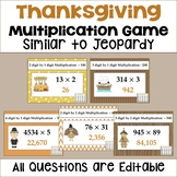 Thanksgiving Multiplication Game Similar to Jeopardy