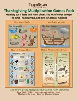Thanksgiving Multiplication Games Pack