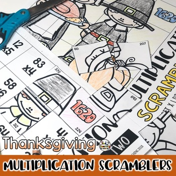Thanksgiving Multiplication Math Puzzles